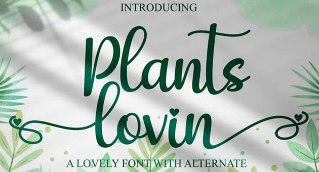 Nature And Plant Fonts Plants Lovin