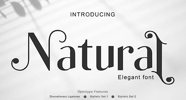 Nature And Plant Fonts Natural