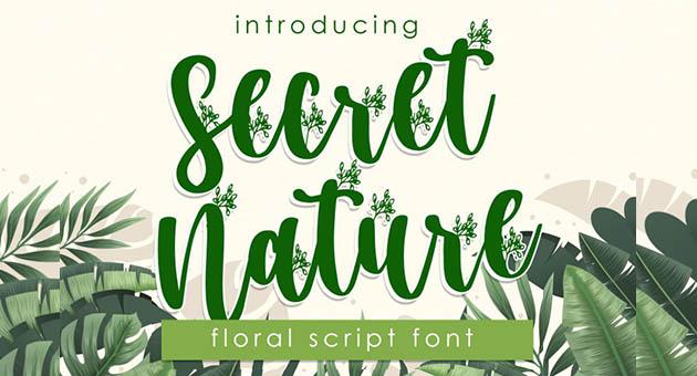 Nature And Plant Fonts Secret Nature