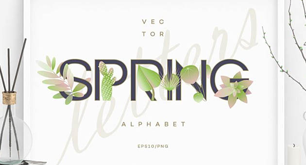 Nature And Plant Fonts Sping