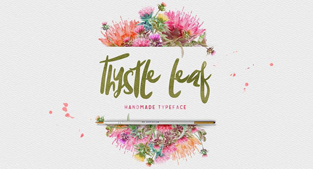 Nature And Plant Fonts Thystle Leaf