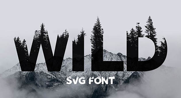 Nature And Plant Fonts Wild