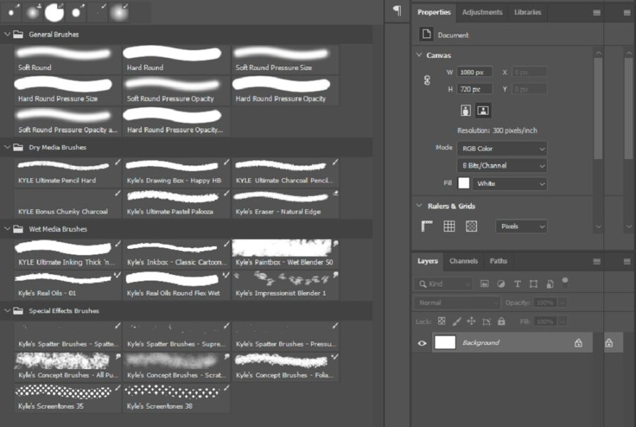 How To Organise Brushes In Photoshop